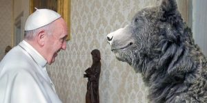 pope and bear